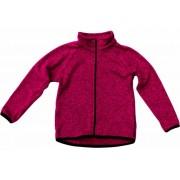 Celopropínací sportovní svetr malinová  FANTOM