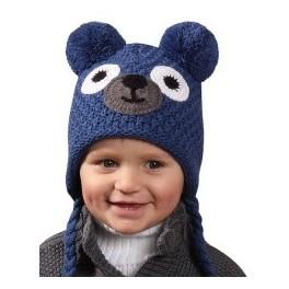 H050 Zimní čepice Medvídek PLETEX