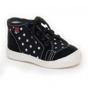 100016-3 Textilní kotníková obuv RAK černá puntík