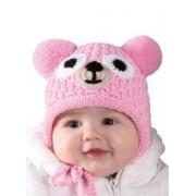 H081 Zimní čepice Medvídek PLETEX