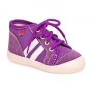 100016-3 Textilní kotníková obuv RAK fialová