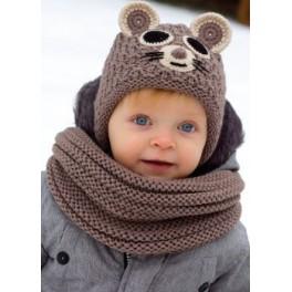 H098 Zimní čepice myšička PLETEX