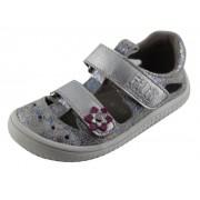 19012-04 KAIMAN  barefoot sandálky FILII silver mulitcolor