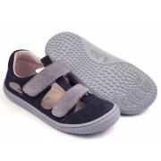 19012-28 KAIMAN  barefoot sandálky FILII ocean/grey