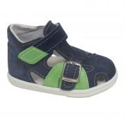 009S Sandálky Jonap modro-zelená